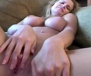 Masturbating Housewife has Sticky..