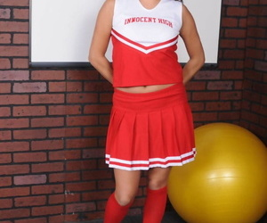 Dark haired cheerleader Christina..