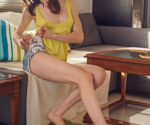 Skinny nude girl Adel Morel..