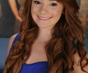 Cute teen with red hair Ava..