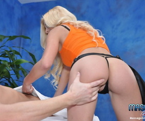 Lascivious teen blonde with small..