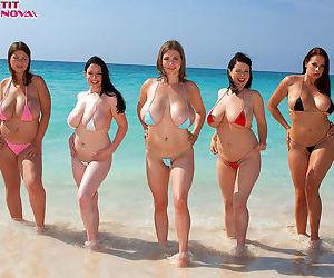 Big boob paradise with busty bikini girls - part 1604