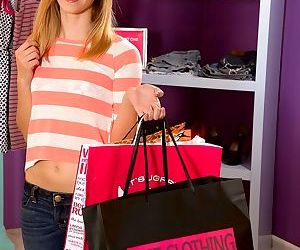 Dirty shoplifter rachel james gets caught and gives a..