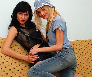 Stunning teenie lesbians - part 414