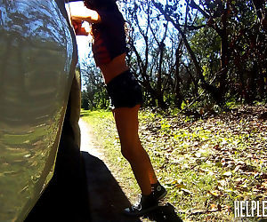 Helpless teen faye was supposed to meet her dealer in a..
