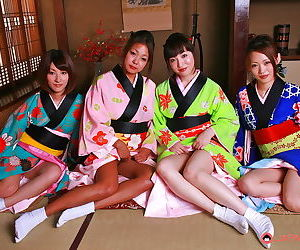 Asian orgy with young geishas - part 35