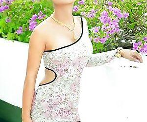 Glamour thai model tailynn shows off her spikey hair -..