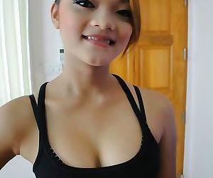 Cute thai girl miy with braces takes some self shot photos..