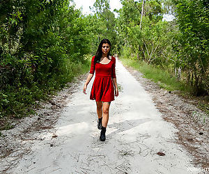 Latina teen Gina Valentina is out for stroll when she is..