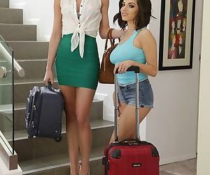 Leggy lady Darcie Dolce & stepdaughter Bianca Breeze go..
