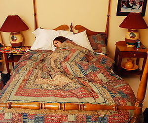 Tattooed teen Jeska Vardinski wakes up from a snooze with..