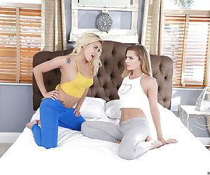Teen pornstars Marsha May and Sydney Cole suck and fuck..