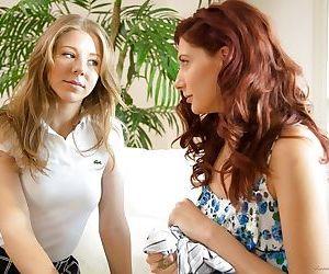 Passionate lesbian teens Chastity Lynn and Ashlyn Molloy..