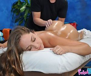 Teen beauty Remy having young 18 year old nude body massaged