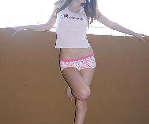 Thin white girl Faye Reagan makes her nude modeling debut..