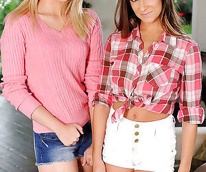 Alli Rae and Cassidy Klein are pretty hot and slender..