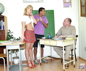 Lusty schoolgirl Michaela S discovers sex pleasure with..