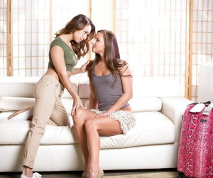 Latina teen girls discover the joys of lesbian sex with a..