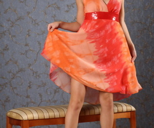 Innocent teen girl Jenny D shows off her flexibility after..
