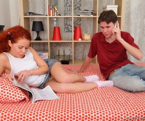 Young looking redhead gets her cherry popped by a BBC..
