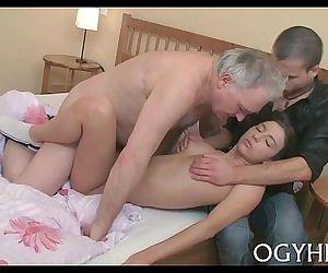 Juvenile sweetie fucked by old paramour - 5 min
