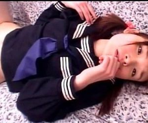 Little jap sweetheart taking hard pounding in school uniform - 5 min