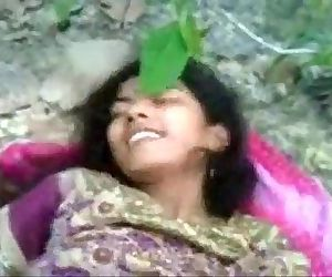 Indian 19y cute muslim teen virgin pussy nipples first time fuck outdoor jungle - 3 min