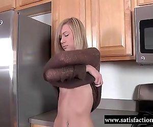 Satisfactiongroupe Masturbating In The Kitchen - 9 min