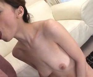 Natsumi Mitsu slides big dong up her throat and hairy pussy - 10 min