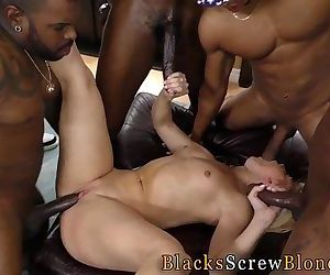 Teen gets bbc creampie