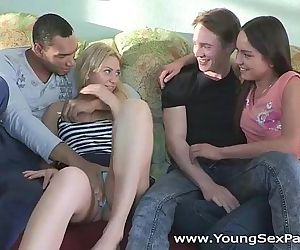 Cream and coffee home sex partyHD