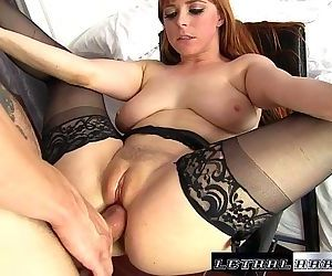 Penny gets her tight asshole destroyed by huge dickHD
