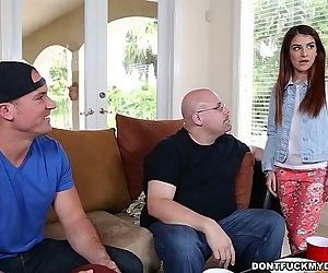 Teen Sally Squirt Gets Dicked Down by Daddys Friend! HD
