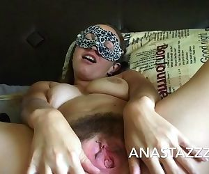 MY MORNING MASTURBATION----FARTING HAIRY PUSSY