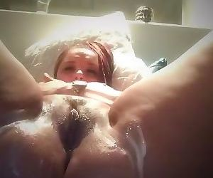 playing with my pussy before my friends dad comes over to fuck me