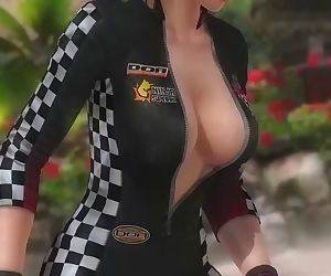 Dead or alive 5 Tina hot blonde in tight race queen costume ass exposure !