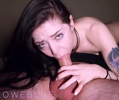Throating a Big Cock at Home for Cum