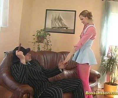 sweet Teen pumped well by boss