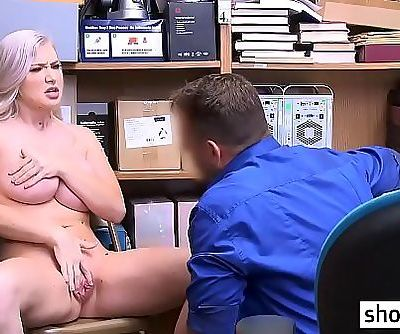 Big boobs blonde teen busted and banged by a LP officer 6 min 720p