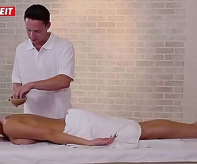 Czech Babe Ria Sun gets an intense happy end on the massage table 10 min HD+