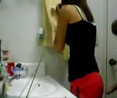 Teen Couple Blowjob And Doggy Style Sex In Bathroom - - 6 min
