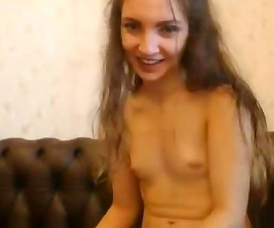 Flat-Chested Hippy Teen with Perky Nipples on Showing Out on Webcam