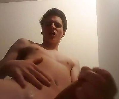 Me fucking my sex toy in bed then having an intense orgasm