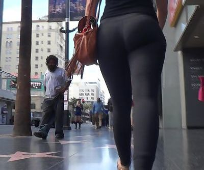 Nice fit ass in tight lululemon leggings walking