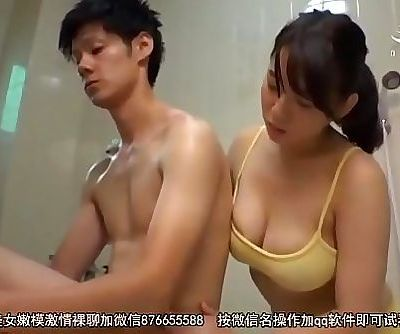 Japanese Mama And Son Dream Of Shower 12 min HD