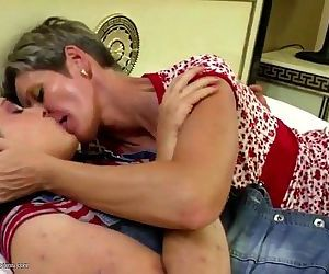 Old and young amateur lesbian..