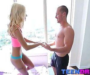 Petite blonde teen babe Uma Jolie..