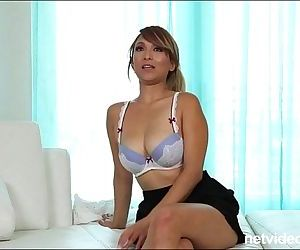 Blonde amateur asian with big..