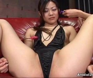 Cute Japanese babe toyed hard –..