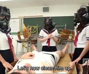 CFNM Gas Mask Japanese..